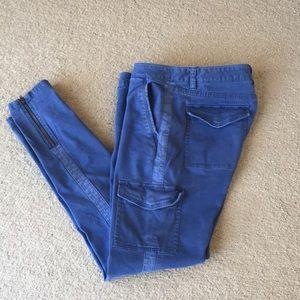 Vineyard Vines sz 2 skinny pants blue ankle zipper